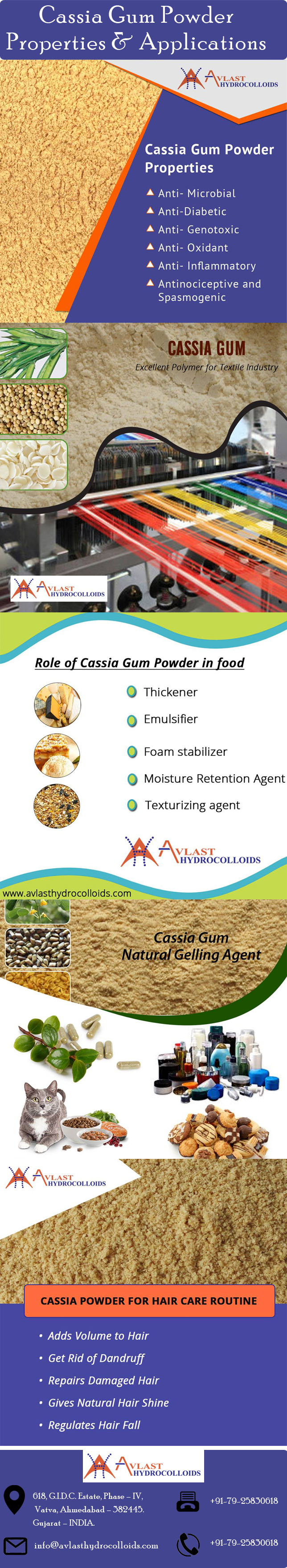 Cassia Gum Powder Applications and Properties