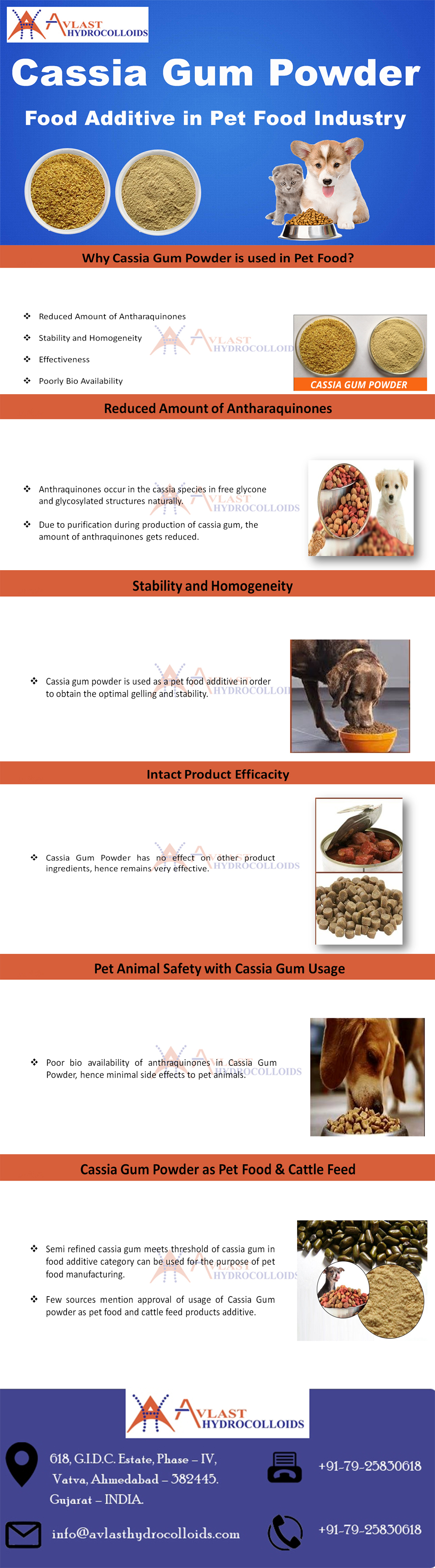 Cassia Gum Powder as a Food Additive in Pet Food Industry