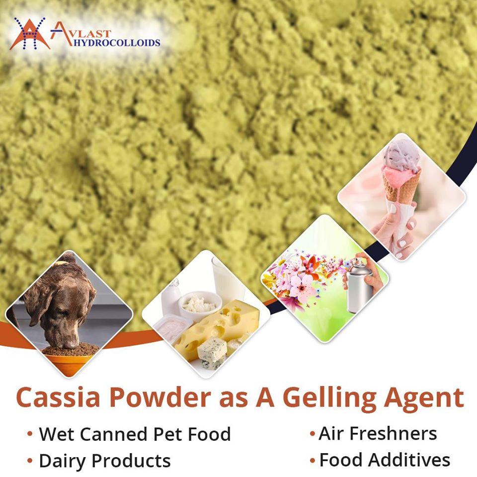 Cassia Powder as A Gelling Agent